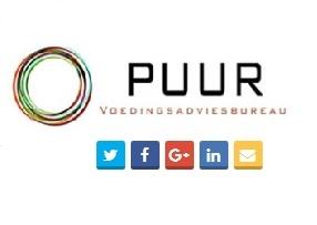 Diëtistenpraktijk Voedingsadviesbureau PUUR, social media, facebook, twitter, linkedin, google+